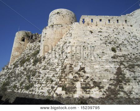 Crac des Chevaliers is an impressive fortress erected at 650 meters of altitude by the Kurds. Possession of the Crusaders at the beginning of the 12th century. poster