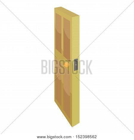 Room door icon. Cartoon illustration of door vector icon for web design
