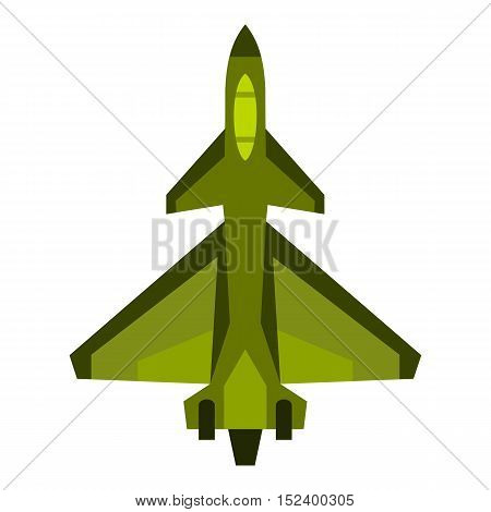 Military fighter jet icon. Flat illustration of fighter jet vector icon for web design