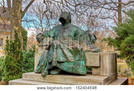 Statue of Anonymous, Vajdahunyad Castle, Budapest, Hungary