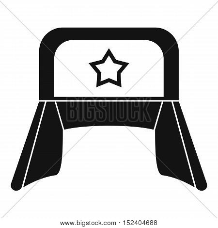 Hat with earflaps icon. Simple illustration of hat with earflaps vector icon for web