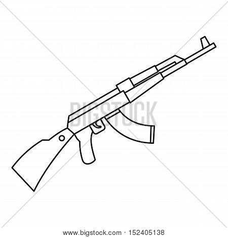 Kalashnikov AK 47 machine icon. Outline illustration of Kalashnikov machine vector icon for web