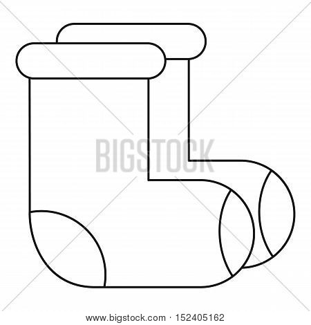 Russian felt footwear icon. Outline illustration of russian felt footwear vector icon for web