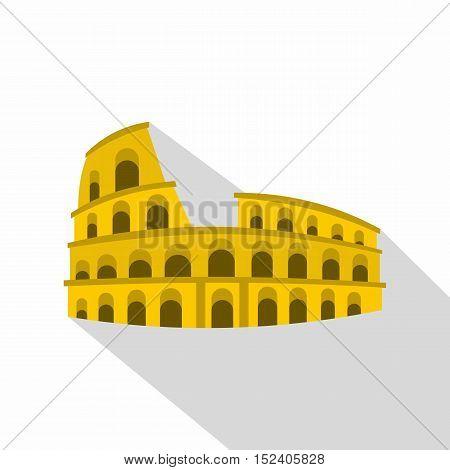 Roman Colosseum icon. Flat illustration of Colosseum vector icon for web