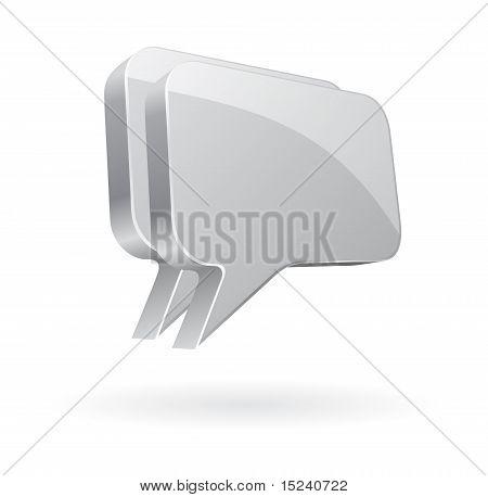 talk bubble icon chrome
