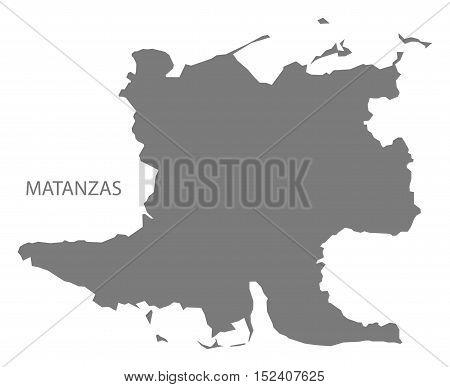 Matanzas Cuba Map grey illustration high res