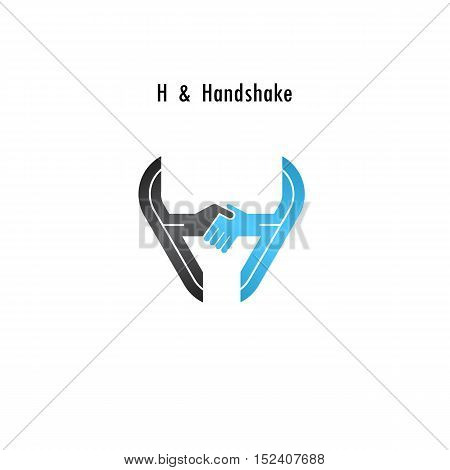 H- letter icon abstract logo design vector template.Business offerpartnership icon.Corporate business and industrial logotype symbol.Vector illustration