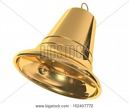 3d illustration of Christmas bell on white background