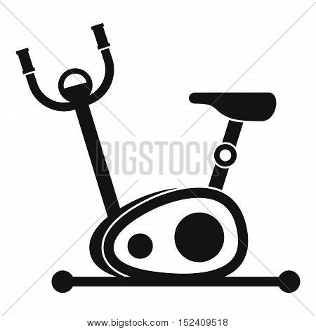 Exercise bike icon. Simple illustration of exercise bike vector icon for web