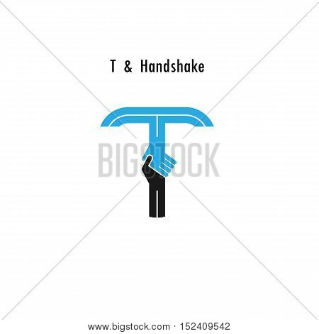 T- letter icon abstract logo design vector template.Business offerpartnership icon.Corporate business and industrial logotype symbol.Vector illustration