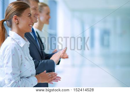 Business people clapping their hands - congratulation and appreciation concepts