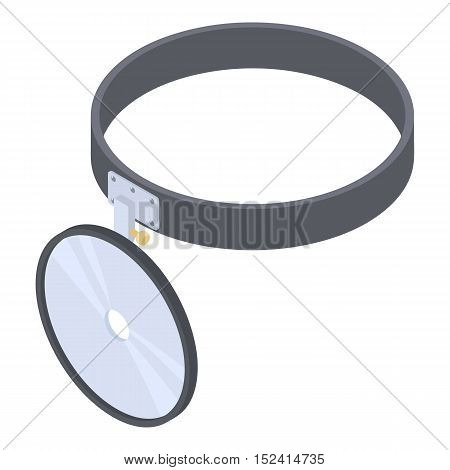 Headlamp reflector icon. Isometric 3d illustration of headlamp reflector vector icon for web