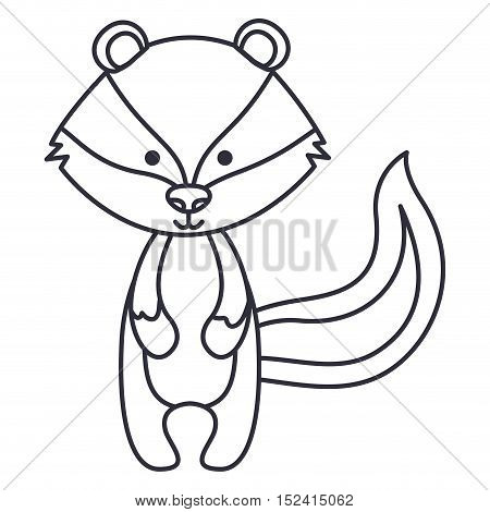 skunk cartoon icon. Cute animal creature and little theme. Isolated design. Vector illustration
