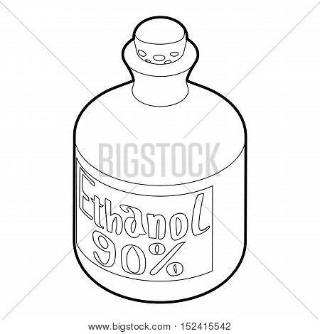 Ethanol in bottle icon. Outline illustration of ethanol in bottle vector icon for web