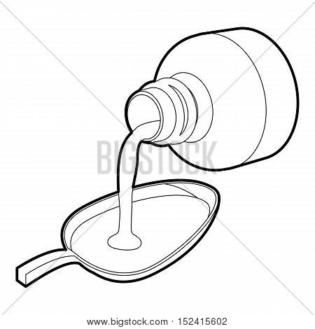 Medical syrup icon. Outline illustration of medical syrup vector icon for web