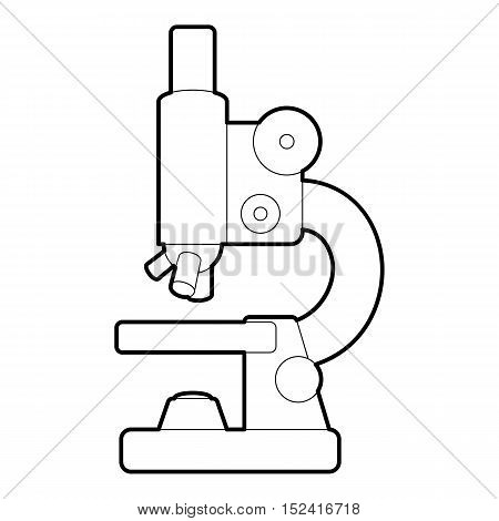Microscope icon. Outline illustration of microscope vector icon for web design