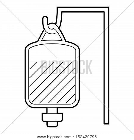 Package for blood transfusion icon. Outline illustration of package for blood transfusion vector icon for web isolated on white background
