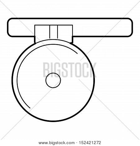 Headlamp reflector icon. Outline illustration of headlamp reflector vector icon for web isolated on white background