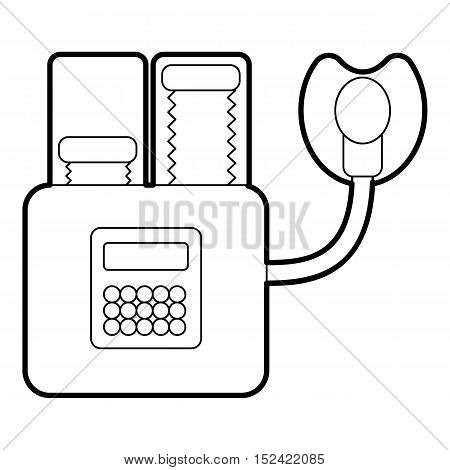 Apparatus for artificial respiration icon. Outline illustration of apparatus for artificial respiration vector icon for web