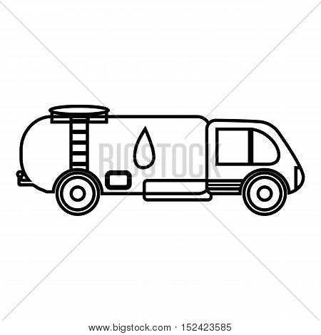 Truck carries petrol icon. Outline illustration of truck carries petrol vector icon for web
