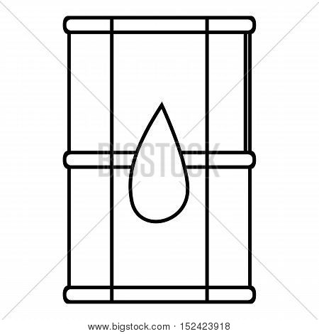 Transport tank for oil icon. Outline illustration of transport tank for oil vector icon for web