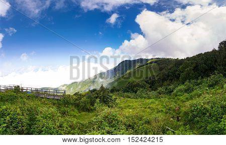 Mountain landscape, Viewpoint of Kio Mae Pan, Chiang Mai, Thailand