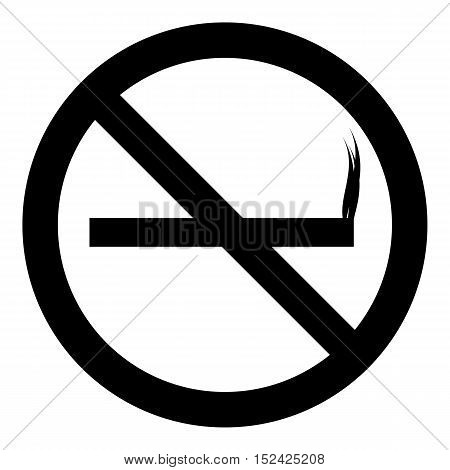Sign no smoking icon. Simple illustration of sign no smoking vector icon for web