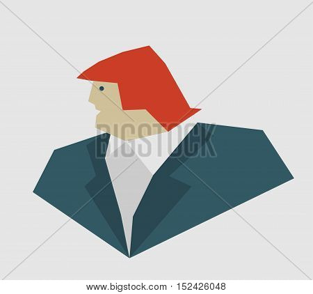 October 18, 2016: A vector illustration of a portrait of Republican Presidential Candidate Donald Trump sketched in a simplified style