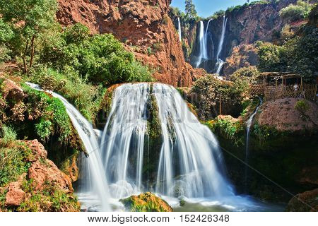 Ouzoud Falls near the Grand Atlas village of Tanaghmeilt Morocco