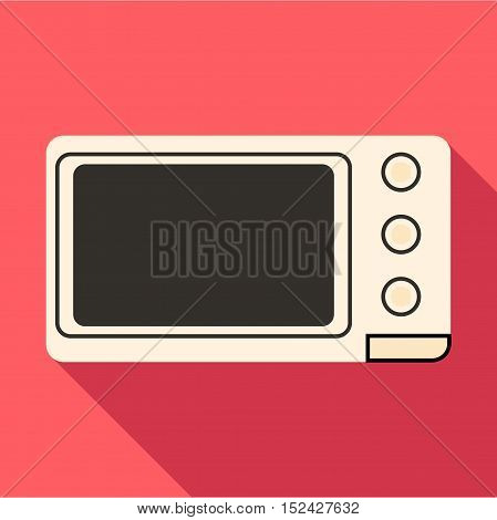 Microwave icon. Flat illustration of microwave vector icon for web