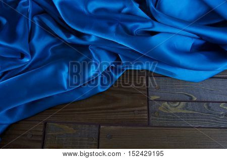 Blue Satin Fabric, Silk Fabric, The Fabric Folds, Draping