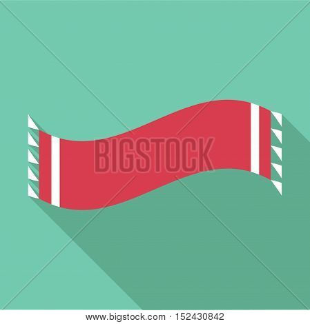Winter scarf icon. Flat illustration of winter scarf vector icon for web