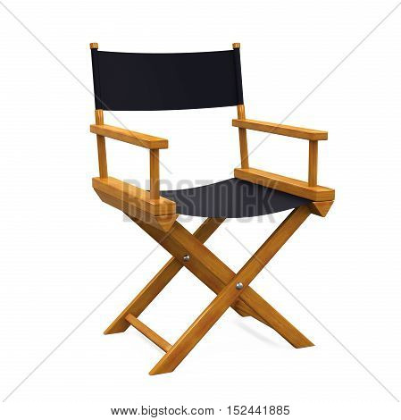 Director Chair isolated on white background. 3D render