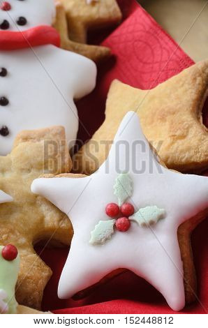 Christmas Biscuits Decorated With Icing