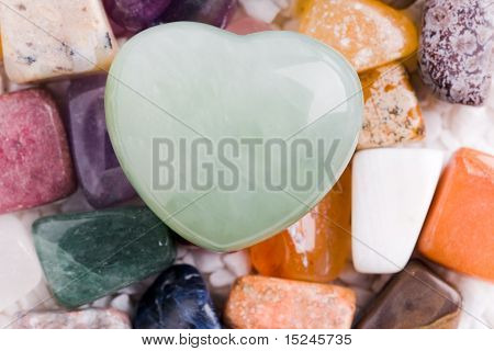 Heart On Many Different Natural Stones
