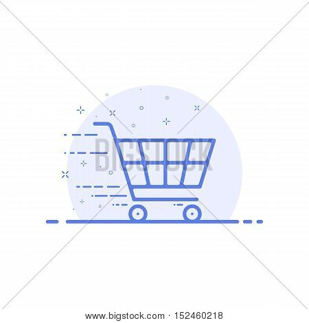 Vector trendy flat line icon concept for designers and developers. Illustration for shopping, e-commerce, m-commerce, delivery, for websites and mobile websites and apps. Outline design isolated.