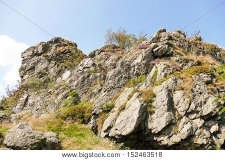 Bruchhauser steine rocks in Bruchausen in Germany.