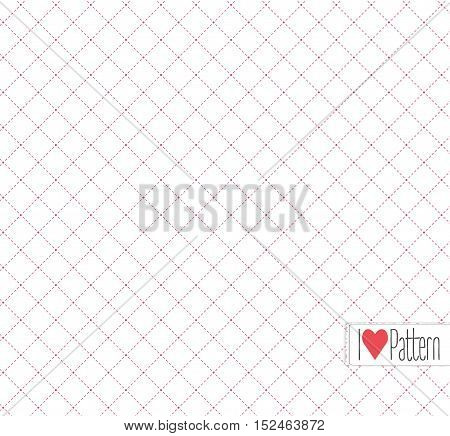 Vector modern pattern. texture with dotted rhombus