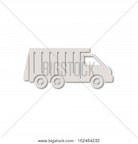 Recycle truck icon on white background vector