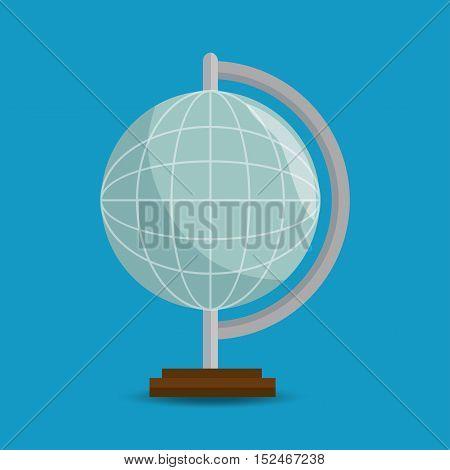 globe eart education online blue background vector illustration eps 10