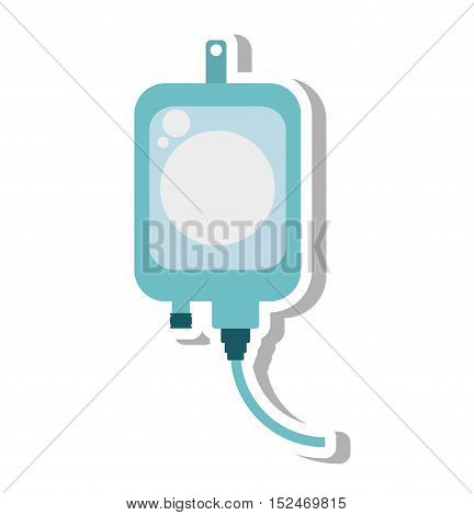 iv bag medical isolated icon vector illustration design