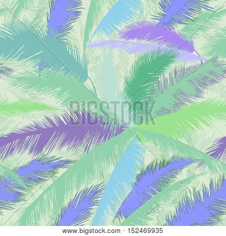 Floral pattern. Exotic leaves of rainforest. nature background. Seamless  pattern with palm tree leaf.