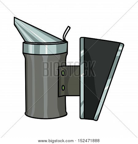 Bee smoker icon in cartoon style isolated on white background. Apairy symbol vector illustration