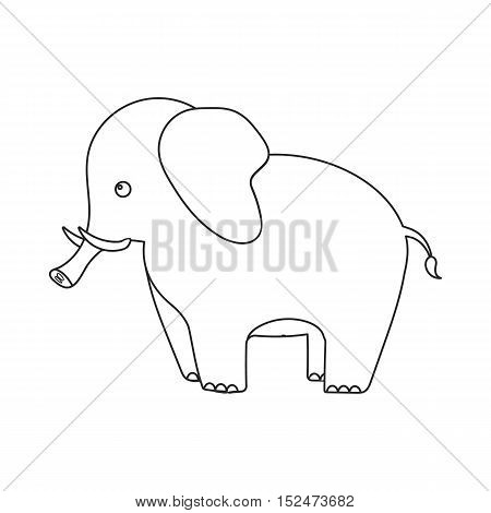 Elephant icon outline. Singe animal icon from the big animals outline.