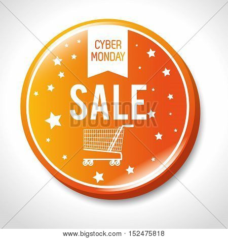 big sale cyber monday button vector illustration eps 10