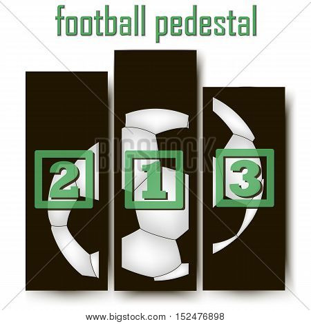 Football Abstract pedestal. Football Abstract pedestal. soccer ball. Vector illustration Vector illustration