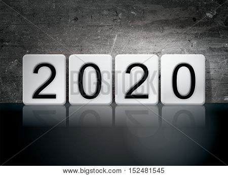 2020 Tiled Letters Concept And Theme