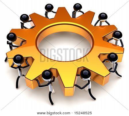 Teamwork efficiency gear concept