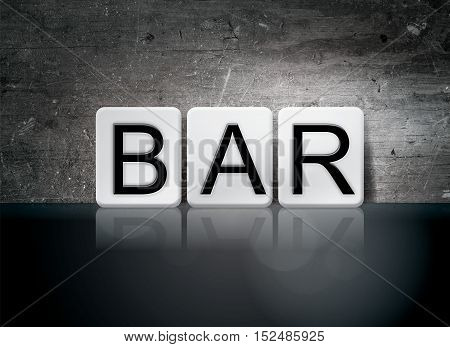 Bar Tiled Letters Concept And Theme
