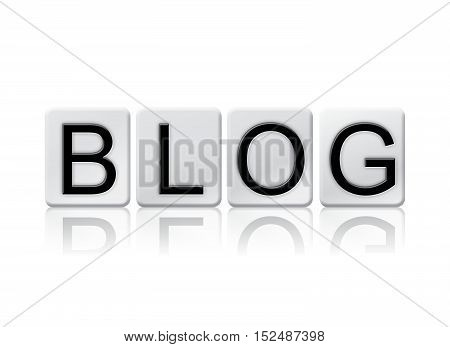 Blog Isolated Tiled Letters Concept And Theme